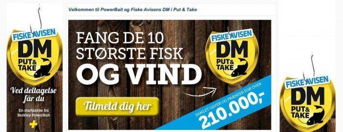 Dänemarkmeisterschaft im Put & Take Angeln 2015 - Bildschirmfoto www.fiskeavisen.dk © fiskeavisen.dk