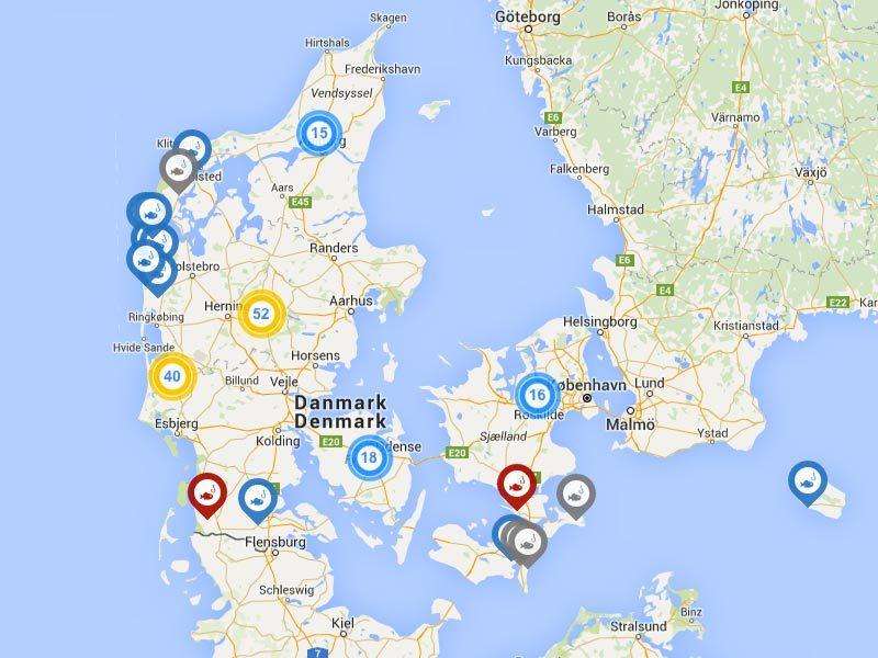 Dänemark Nordsee Karte.Angeln Im Forellensee Put Take Angelsee In Dänemark